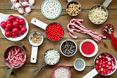 foto of sprinkling  - Christmas cupcake decorations and sprinkles - JPG