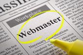 Webmaster Vacancy in Newspaper.