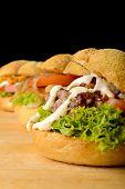 image of veggie burger  - Appetizing veggie - JPG