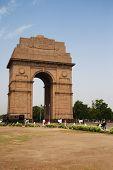 stock photo of india gate  - War memorial in a city - JPG