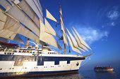 stock photo of messina  - Clipper ship in the sea - JPG