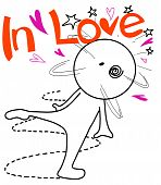 Cartoon in love
