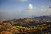 Постер, плакат: Clouds over Guru Shikhar Arbuda Mountains Mount Abu Sirohi District Rajasthan India