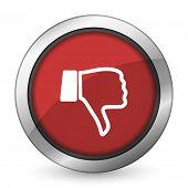 picture of dislike  - dislike red icon thumb down sign  - JPG