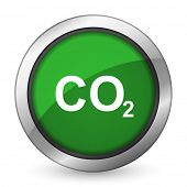 stock photo of carbon-dioxide  - carbon dioxide green icon co2 sign  - JPG