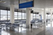 pic of crisis  - Empty modern airport waiting hall - JPG