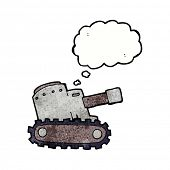 picture of army  - cartoon army tank with thought bubble - JPG