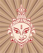 pic of navratri  - Durga Goddess of Power Vector Art - JPG