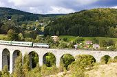 foto of passenger train  - passenger train on viaduct Novina - JPG