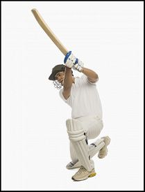 picture of cricket shots  - Cricket batsman playing a cover drive - JPG