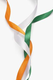 foto of indian flag  - Ribbons representing Indian flag colors - JPG