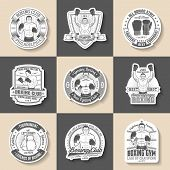 pic of boxing  - Boxing emblem set of 9 pieces - JPG