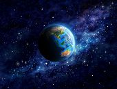 Постер, плакат: Planet Earth In Outer Space