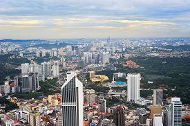 foto of kuala lumpur skyline  - Skyline of Kuala Lumpur - JPG