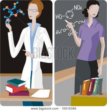 Picture or Photo of Teacher illustrations series. 1 ...