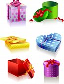 Colour boxes for gifts and holidays