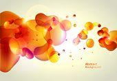 Fondo amarillo de la abstracción