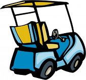 Golf cart. Pantone Colors. Very clean vectors.