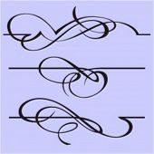 Exquisite Design Elements 3 (Vector) Very clean and exquisite design elements of ornamental type.  V