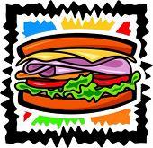 Vector illustration of a sandwich.