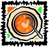 Hot soup. Vector illustration