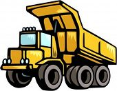 Construction and mining truck.Vector illustration