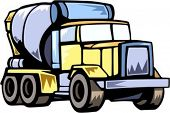 Concrete mixer.Vector illustration