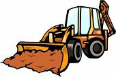 Backhoe Loader.Vector illustration