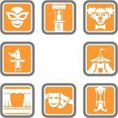 Un conjunto de iconos de vector de teatro 8.