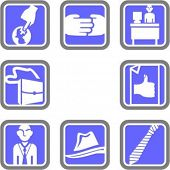 A set of 8 business vector icons. Check my portfolio for many more images of this series.