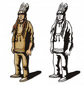 stock photo of cree  - Illustration of an indian - JPG
