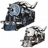 Illustration of a steam locomotive.