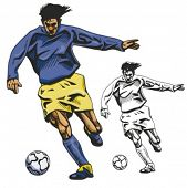 Fußball-Nationalspieler. Vektor-illustration