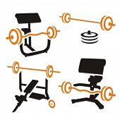 Fitness Vector Icons serie.