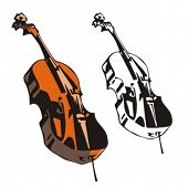 Music Instrument Series. Vector illustration of a tunning cello.