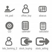 Accounting icons set 1. Check my portfolio for many more images from this series.