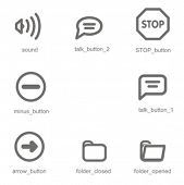 Navigation icons set 2. Check my portfolio for many more images from this series.