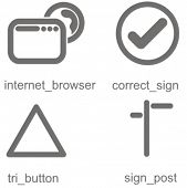 Navigation icons set 3. Check my portfolio for many more images from this series.