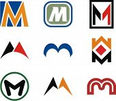 image of letter m  - Alphabetical Logo Design Concepts - JPG