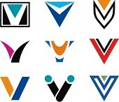 Alphabetical Logo Design Concepts. Letter V. Check my portfolio for more of this series.