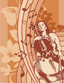Exclusive Series of Musician Backgrounds in Floral Style. Check my portfolio for much more of this s