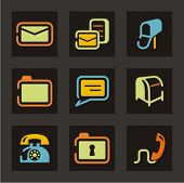 Web icons set. Mail and communication. Check my portfolio for much more of this series as well as th