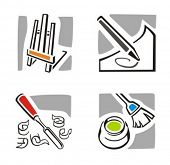 Fine arts icons. Check my portfolio for thousands of similar and other great vector items.