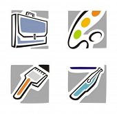 Fine arts icons series. Check my portfolio for much more of this series as well as thousands of similar and other great vector items.