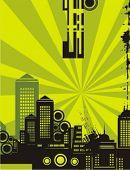 Sonnenschein Stadtansicht-Kontur-Hintergrund-Serie. Überprüfen Sie mein Portfolio für viel mehr von dieser Serie als