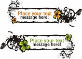 Floral vector frame with place for your text. Check my portfolio for many more of this series as wel