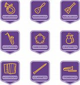 Merchandise Pictogram Series - Music Instruments