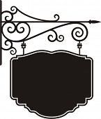 Exquisite hanging sign with ornamental details, vector series.