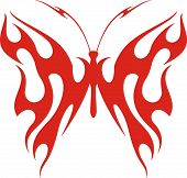 Flaming butterfly vector illustration, great for vehicle graphics, stickers and T-shirt designs. Rea