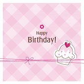 picture of happy birthday card  - Birthday card with copy space - JPG